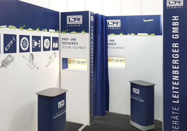 Mobiler Messestand - Industriefirma